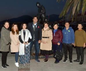 Çinli medya temsilcileri Foça'yı tanıdı