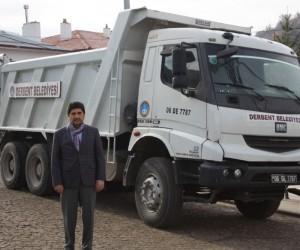 Derbent'e Keçiören Belediyesinden kamyon desteği