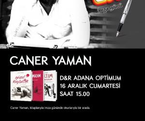 Caner Yaman Adana'da okurlarıyla buluşacak