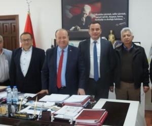 Aydın Ticaret Borsası'ndan Efeler Belediye Başkanı Mesut Özakcan'a ziyaret