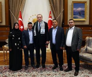 Cumhurbaşkanı Erdoğan, down sendromlu Filistinli Muhammed et-Tavil kabul etti