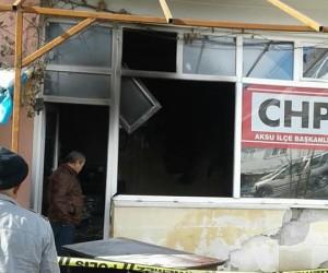 CHP ilçe başkanlığında patlayan ısıtıcı yangına neden oldu