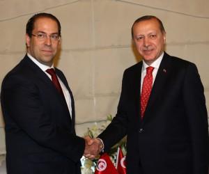 Cumhurbaşkanı Erdoğan, Tunus Başbakanı Şahid'i kabul etti