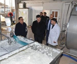 Vali Arslantaş, Erzincan Süt Toplama Soğutma ve Süt Analiz Merkezi'ni İnceledi
