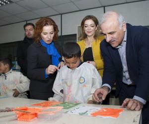 Vali Zorluoğlu ve eşinden TEGV'e ziyaret