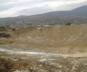 Manisa'da bir hayvan içme suyu göleti daha tamamlandı