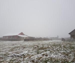İnegöl'de yüksek kesimlerde kar yağışı başladı