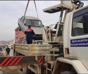Hurda araçlar böyle kaldırıldı