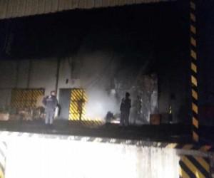 Fabrika deposunda yangın paniği