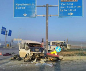 İnegöl yolunda feci kaza: 3 ölü, 32 yaralı