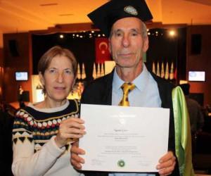 75 yaşında ikinci defa mühendis oldu