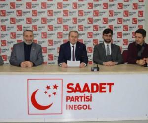 Saadet Partisi İnegöl'ün sorunlarını listeledi