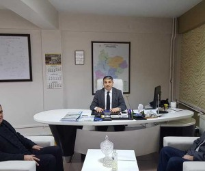 Başkan Yalçın ve OEDAŞ İl Müdürü Aykut bir araya geldi