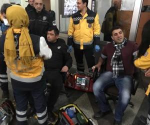 Bursa'da kimyasal paniği, adliye boşaltıldı