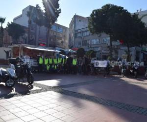 Aliağa'da motorcular şehit Fethi Seki için lokma döktürdü