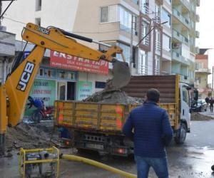 Söke Koçlar Caddesinde düzenleme çalışmalarına başlandı