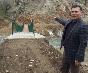 Ergünü köyüne asma köprü yapıldı