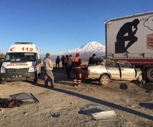 Doğubayazıt'ta trafik kazası: 1 ölü