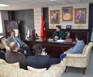 İş-Kur İl Müdürü Tozan ve SGK İl Müdürü Bedir'den Başkan Bakıcı'ya ziyaret