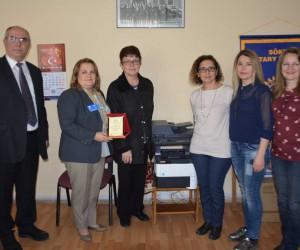 Söke Rotary Kulüp'ten Hacı Kazımoğlu İlkokulu'na Fotokopi Makinası
