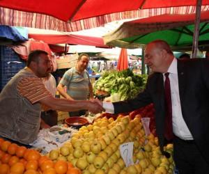 Geçici pazarın yeri ortaklaşa belirlendi