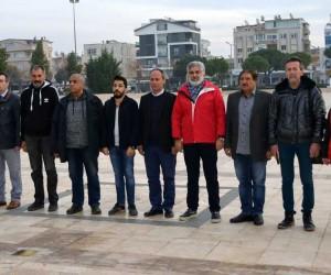 Didim Çalışan Gazeteciler Cemiyeti üyeleri 10 Ocak'ı çelenkle kutladı