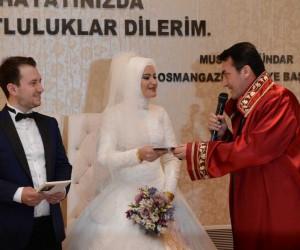 Yabancı gelin ve damatlar Osmangazi'yi seçti