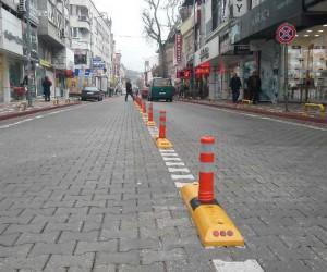 Çayiçi Caddesinde park yasağı uygulaması