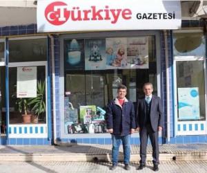 Tosya Kaymakamı Pişkin, Türkiye Gazetesi Temsilciliğini ziyaret etti