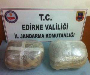 Bulgaristan plakalı araçta uyuşturucu madde ele geçirildi
