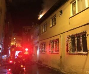 Bursa'da alevli gece