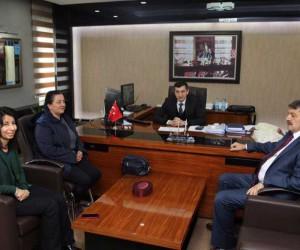 Başkan Akın ve Muhtar Duran'dan DSİ Müdürüne ziyaret