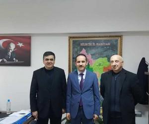Başkan Yalçın ve İl Özel İdaresi Genel Sekreter Yardımcısı Çelebi bir araya geldi