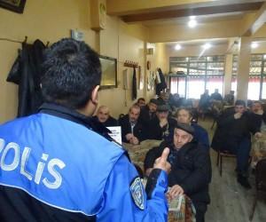 Polis ekipleri vatandaşları hırsızlık dolandırıcılık ve soba zehirlenmelerine karşı bilgilendirdi