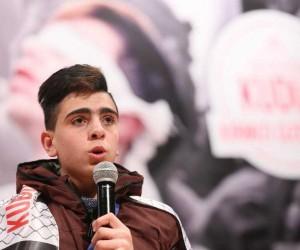 Kudüs direnişinin genç kahramanı Fevzi El-Cuneydi Esenler'de