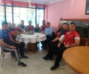 Musa Aydın'dan Greko-Romen Milli Takımı'na ziyaret