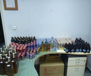 Araç bagajında alkol satışına polis baskını