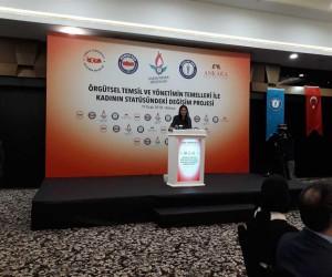 """""""Örgütsel Temsil ve Yönetimin Temelleri ile Kadının Statüsündeki Değişim"""" projesi kapanış toplantısı"""