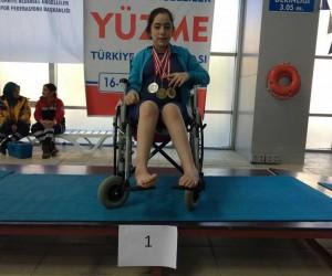 Yüzücü Neslihan Kılıçoğlu'ndan 5 Türkiye birinciliği, 1 ikincilik