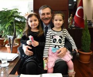 Bilge Çocuk Akademisi'nden Başkan Ataç'a ziyaret