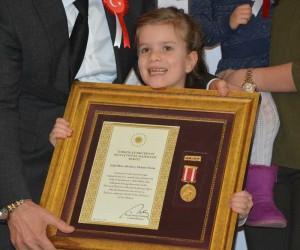 Devlet övünç madalya töreninde duygu dolu anlar yaşandı