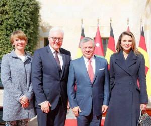 Ürdün Kralı II. Abdullah, Almanya Cumhurbaşkanı Steinmeier ile bir araya geldi
