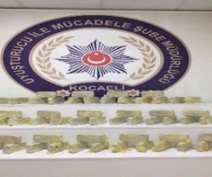 Kocaeli'de 71 kilo 600 gram eroin ele geçirildi