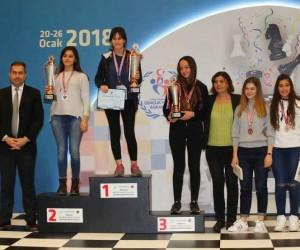 Denizlili satranç sporcuları gümüş madalya aldı