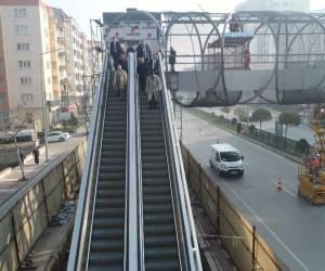 Mimar Sinan üst geçidi açılışa gün sayıyor