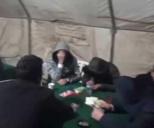 Ormanda kumar çadırına polis baskını kamerada