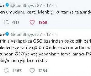"""Milletvekili Tayyar: """"ABD Afrin'den umudunu kesti, Menbiç'i kurtarmanın telaşında"""""""