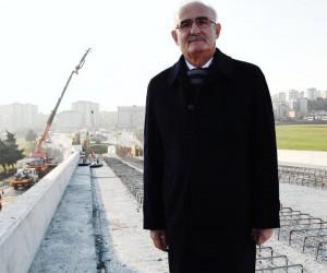 """Yılmaz: """"OMÜ raylı sistem hattının Ağustos'ta bitirilmesi söz konusu"""""""