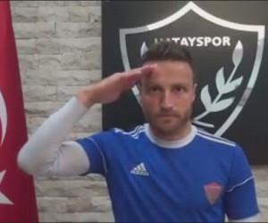 Hataysporlu futbolculardan Mehmetçiğe destek