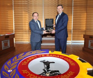 ZEKA Genel Sekreteri Yusuf Balcı, ATSO Başkanı Hüsnü Serteser ile bir araya geldi